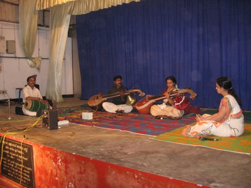 Performance at Pallikavu Temple