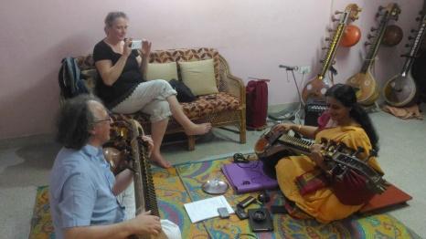 Martin Schneider - Violinist from Germany taking Veena lessons