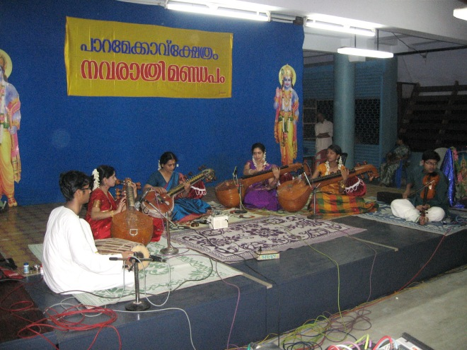 Veena Concert at Paramekkavu Temple, Thrissur on Sep.30th 2011