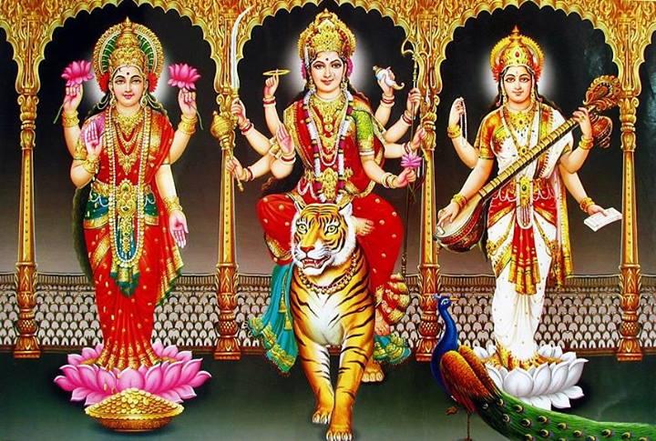 Durga, Lakshmi, Sarasvathi.jpg