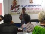 Siddharth sings a krithi composed by Muthuswami Deekshithar in Raga Lalitha- Hiranmayeem Lakshmi..
