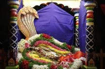 150-Navaratri 2014 – Day 6 Sesha Sayanam at Sri Ramanashramam, Tiruvannamalai