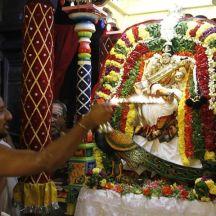 156-Navaratri 2014 – Day 8- Maha Saraswati at Sri Ramanashramam, Tiruvannamalai.